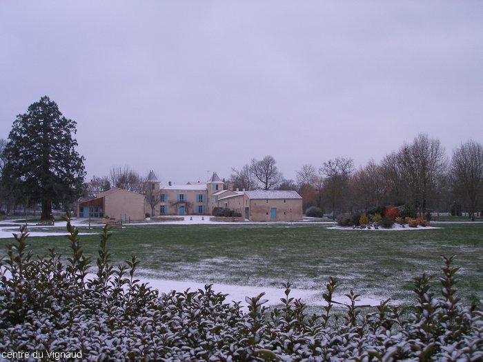 Le Centre du Vignaud sous la neige